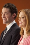 "GLEE: Will (Matthew Morrison, L) and Emma (Jayma Mays, R) watch sectionals in the ""Hold on to Sixteen"" episode of GLEE airing Tuesday, Dec. 6 (8:00-9:00 PM ET/PT) on FOX. ©2011 Fox Broadcasting Co. Cr: Adam Rose/FOX"