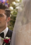 "GLEE: Sue (Jane Lynch, R) shows up as a bride for Will's (Matthew Morrison, L) wedding in the ""I Do"" episode of GLEE airing Thursday, Feb. 14 (9:00-10:00 PM ET/PT) on FOX. ©2013 Fox Broadcasting Co. CR: Adam Rose/FOX"