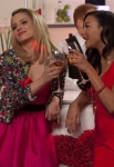 "GLEE: Santana (Naya Rivera, R) and Quinn (Dianna Agron, L) reunite in Lima for Will and Emma's wedding in the ""I Do"" episode of GLEE airing Thursday, Feb. 14 (9:00-10:00 PM ET/PT) on FOX. ©2013 Fox Broadcasting Co. CR: Adam Rose/FOX"