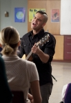 "GLEE: Puck (Mark Salling, C) performs in the ""I Kissed a Girl"" episode of GLEE airing Tuesday, Nov. 29 (8:00-9:00 PM ET/PT) on FOX. ©2011 Fox Broadcasting Co. Cr: Adam Rose/FOX"