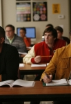 "GLEE: Puck (Mark Salling, L) and Rory (Damian McGinty, R) attend math class in the ""I Kissed a Girl"" episode of GLEE airing Tuesday, Nov. 29 (8:00-9:00 PM ET/PT) on FOX. ©2011 Fox Broadcasting Co. Cr: Beth Dubber/FOX"