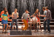 """GLEE: The Glee club performs in the """"Lights Out"""" episode of GLEE airing Thursday, April 25 (9:00-10:00 PM ET/PT) on FOX. ©2013 Fox Broadcasting Co. Pictured L-R: Alex Newell, Jenna Ushkowitz, Chord Overstreet, Darren Criss, Becca Tobin, Kevin McHale, Melissa Benoist, Blake Jenner and Jacob Artist. CR: Eddy Chen/FOX"""