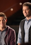 """GLEE: Finn (Cory Monteith, L) and Will (Matthew Morrison, R) enlist the members of New Directions to 'unplug"""" and perform acoustic numbers in the """"Lights Out"""" episode of GLEE airing Thursday, April 25 (9:00-10:00 PM ET/PT) on FOX. ©2013 Fox Broadcasting Co. CR: Eddy Chen/FOX"""