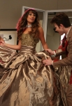 "GLEE: Rachel (Lea Michele, C) gets made up by Kurt (Chris Colfer, R) and Vogue.com editor Isabelle Klempt (guest star Sarah Jessica Parker, L) in the ""Makeover"" episode of GLEE airing Thursday, Sept. 27 (9:00-10:00 PM ET/PT) on FOX. ©2012 Fox Broadcasting Co. Cr: Mike Yarish/FOX"