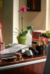 "GLEE: Will (Matthew Morrison, R) seeks advice from Emma (Jayma Mays, L) in the ""Makeover"" episode of GLEE airing Thursday, Sept. 27 (9:00-10:00 PM ET/PT) on FOX. ©2012 Fox Broadcasting Co. Cr: Beth Dubber/FOX"