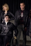 """GLEE: Members of the glee club confront the Warblers in the """"Michael"""" episode of GLEE airing Tuesday, Jan. 31 (8:00-9:00 PM ET/PT) on FOX. Pictured L-R: Harry Shum Jr., Dianna Agron, Kevin McHale, Mark Salling, Lea Michele and Jenna Ushkowitz. ©2012 Fox Broadcasting Co. CR: Adam Rose/FOX"""