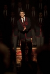 "GLEE: Sebastian (guest star Grant Gustin, C) leads the Warblers as they perform at Regionals in the ""On My Way"" Winter Finale episode of GLEE airing Tuesday, Feb. 21 (8:00-9:00 PM ET/PT) on FOX. ©2012 Fox Broadcasting Co. Cr: Adam Rose/FOX"