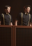 "GLEE: Rory (Damian McGinty, L) and Finn (Cory Monteith, R) perform at Regionals in the ""On My Way"" Winter Finale episode of GLEE airing Tuesday, Feb. 21 (8:00-9:00 PM ET/PT) on FOX. ©2012 Fox Broadcasting Co. Cr: Adam Rose/FOX"