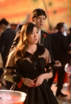 "GLEE: Mike (Harry Shum Jr, R) and Tina (Jenna Ushkowitz, L) attend the prom in the ""Prom-asaurus"" episode of GLEE airing Tuesday, May 8 (8:00-9:00 PM ET/PT) on FOX. ©2012 Fox Broadcasting Co. Cr: Mike Yarish/FOX"