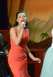 "GLEE: Tina (Jenna Ushkowitz, L), Santana (Naya Rivera, C) and Brittany (Heather Morris, R) perform in the ""Prom-asaurus"" episode of GLEE airing Tuesday, May 8 (8:00-9:00 PM ET/PT) on FOX. ©2012 Fox Broadcasting Co. Cr: Mike Yarish/FOX"