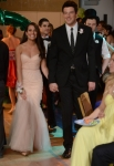 "GLEE: Rachel (Lea Michele, L) and Finn (Cory Monteith, R) go to the prom together in the ""Prom-asaurus"" episode of GLEE airing Tuesday, May 8 (8:00-9:00 PM ET/PT) on FOX. ©2012 Fox Broadcasting Co. Cr: Mike Yarish/FOX"