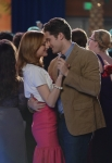 "GLEE: Will (Matthew Morrison, R) and Emma (Jayma Mays, L) share a moment in the ""Prom-asaurus"" episode of GLEE airing Tuesday, May 8 (8:00-9:00 PM ET/PT) on FOX. ©2012 Fox Broadcasting Co. Cr: Mike Yarish/FOX"