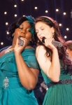 GLEE: Unique (Alex Newell, L) and Marley (Melissa Benoist, R) perform in the