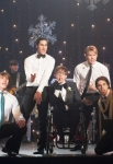 "GLEE: The boys perform in the ""Sadie Hawkins"" episode of GLEE airing Thursday, Jan. 24 (9:00-10:00 PM ET/PT) on FOX. Pictured L-R: Blake Jenner, Darren Criss, Kevin McHale, Chord Overstreet and Samuel Larsen. ©2013 Fox Broadcasting Co. CR: Eddy Chen/FOX"