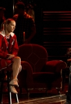 "GLEE: Sam (Chord Overstreet, R) sings to Brittany (Heather Morris, L) in the ""Shooting Star"" episode of GLEE airing Thursday, April 11 (9:00-10:00 PM ET/PT) on FOX. ©2013 Fox Broadcasting Co. CR: Adam Rose/FOX"