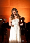 "GLEE: Rachel (Lea MIchele) performs at NYADA's prestigious winter showcase in the ""Swan Song"" episode of GLEE airing Thursday, Dec. 6 (9:00-10:00 PM ET/PT) on FOX. ©2012 Fox Broadcasting Co. CR: Eddy Chen/FOX"
