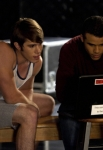 "GLEE: Ryder (Blake Jenner, L) and Jake (Jacob Artist, R) work together in the ""Thanksgiving"" episode of GLEE airing Thursday, Nov. 29 (9:00-10:00 PM ET/PT) on FOX. ©2012 Fox Broadcasting Co. Cr: Jordin Althaus/FOX"