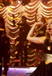 "GLEE: Joe (Samuel Larsen, L) and Sugar (Vanessa Lengies, R) perform in the ""Thanksgiving"" episode of GLEE airing Thursday, Nov. 29 (9:00-10:00 PM ET/PT) on FOX. ©2012 Fox Broadcasting Co. Cr: Jordin Althaus/FOX"