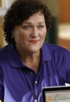 "GLEE: Coach Beiste (Dot-Marie Jones) gives Emma some advice in the ""The Role You Were Born to Play"" episode of GLEE airing Thursday, Nov. 8 (9:00-10:00 PM ET/PT) on FOX. ©2012 Fox Broadcasting Co. Cr: Jordin Althaus/FOX"