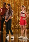 "GLEE: L-R: Ryder (Blake Jenner, ""The Glee Project"" Winner Season 2), Marley (Melissa Benoist), Kitty (Becca Tobin) and Jake (Jacob Artist) rehearse for a musical in the ""The Role You Were Born to Play"" episode of GLEE airing Thursday, Nov. 8 (9:00-10:00 PM ET/PT) on FOX. ©2012 Fox Broadcasting Co. Cr: Mike Yarish/FOX"