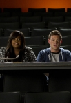 "GLEE: L-R: Mike (Harry Shum Jr.), Mercedes (Amber Riley), Finn (Cory Monteith) and Artie (Kevin McHale) judge the auditions for a new musical in the ""The Role You Were Born to Play"" episode of GLEE airing Thursday, Nov. 8 (9:00-10:00 PM ET/PT) on FOX. ©2012 Fox Broadcasting Co. Cr: Adam Rose/FOX"