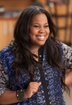 """GLEE: Mercedes (Amber Riley) returns to McKinley High in the """"Wonder'ful"""" episode of GLEE airing Thursday, May 2 (9:00-10:00 PM ET/PT) on FOX. ©2013 Fox Broadcasting Co. CR: Adam Rose/FOX"""