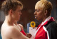 """GLEE: Coach Roz (guest star NeNe Leakes, R) tells Sam (Chord Overstreet, L) she's in charge in the """"Yes/No"""" winter premiere episode of GLEE, airing Tuesday, Jan. 17 (8:00-9:00 PM ET/PT) on FOX. ©2011 Fox Broadcasting Co. Cr: Adam Rose/FOX"""