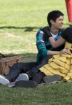 "GLEE: Mike (Harry Shum Jr., L) and Tina (Jenna Ushkowitz, R) share a moment in the ""Yes/No"" winter premiere episode of GLEE, airing Tuesday, Jan. 17 (8:00-9:00 PM ET/PT) on FOX. ©2011 Fox Broadcasting Co. Cr: Adam Rose/FOX"