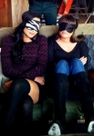 Glee 4x17 - Guilty Pleasures - Santana and Rachel Masks