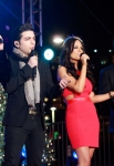 LOS ANGELES, CA - DECEMBER 02: Il Volo and Pia Toscano performing at The 4th Annual Holiday Tree Lighting At L.A. LIVE on December 2, 2011 in Los Angeles, California. (Photo by Todd Oren/WireImage) *** Local Caption *** Il Volo;Pia Toscano;