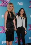 THE X FACTOR: L-R: Britney Spears and Carly Rose Sonenclar at THE X FACTOR Final Three Red Carpet and Press Conference, Monday, Dec. 17 in Los Angeles, CA. CR: Ray Mickshaw / FOX.