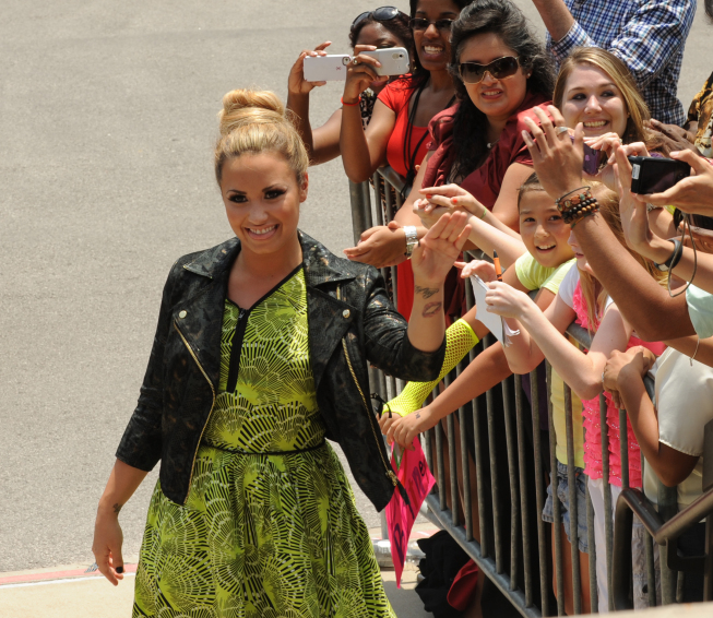 THE X FACTOR: Demi Lovato arrives at the taping of THE X FACTOR in Austin, Texas on Thurday, May 24. CR: Frank Micelotta / FOX.