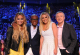 THE X FACTOR: L-R: Judges Demi Lovato, L.A. Reid, Britney Spears and Louis Walsh (filling in for Simon Cowell) at THE X FACTOR: CR: Ray Mickshaw / FOX