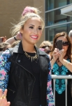 THE X FACTOR: Demi Lovato arrives at the taping of THE X FACTOR in Providence. RI, Tuesday, June 27. THE X FACTOR airs on FOX. CR: Stew Milne/ FOX.