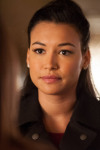 "GLEE: Santana (Naya Rivera) questions Rachel (Lea Michele, not seen) in the ""Feud"" episode of GLEE airing on Thursday, March 14 (9:00-10:00 PM ET/PT) on FOX. ©2013 Fox Broadcasting Co. CR: Adam Rose/FOX"