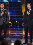 AMERICAN IDOL: Host Ryan Seacrest and special guest Brian Dunkleman open the AMERICAN IDOL Finale airing Thursday, April 7 (8:00-10:06 PM ET Live/PT tape-delayed) on FOX. © 2016 FOX Broadcasting Co. Cr: Ray Mickshaw/FOX