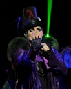 """Singer Adam Lambert performs onstage during his """"Glam Nation 2010 Tour' at Club Nokia on December 16, 2010 in Los Angeles, California."""