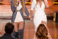 """AMERICAN IDOL: Season 10 runner-up Lauren Alaina with contestant Emily Brooke in the""""Showcase #1: 1st 12 Performances"""" episode of AMERICAN IDOL airing Wednesday, Feb. 10 (8:00-9:01 PM ET/PT) on FOX. Cr: Michael Becker / FOX. © 2016 FOX Broadcasting Co."""