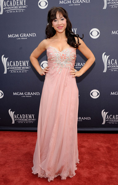 arrives at the 46th Annual Academy Of Country Music Awards RAM Red Carpet held at the MGM Grand Garden Arena on April 3, 2011 in Las Vegas, Nevada.