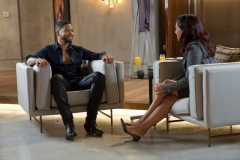 EMPIRE: Pictured L-R: Jussie Smollett as Jamal Lyon and guest star Sharon Carpenter in the ÒWithout A CountryÓ episode of EMPIRE airing Wednesday, Sept. 30 (9:00-10:00 PM ET/PT) on FOX. ©2015 Fox Broadcasting Co. Cr: Chuck Hodes/FOX.