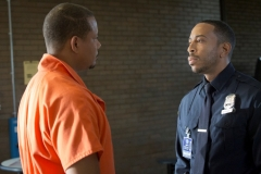 EMPIRE: Pictured L-R: Terrence Howard as Lucious Lyon and guest star Ludacris (Chris Bridges) as Officer McKnight in the ÒWithout A CountryÓ episode of EMPIRE airing Wednesday, Sept. 30 (9:00-10:00 PM ET/PT) on FOX. ©2015 Fox Broadcasting Co. Cr: Chuck Hodes/FOX.