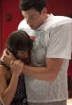 """GLEE: Rachel (Lea Michele, L) and Finn (Cory Monteith, R) share a moment in the """"Britney/Brittany"""" episode of GLEE airing Tuesday, Sept. 28 (8:00-9:00 PM ET/PT) on FOX. ©2010 Fox Broadcasting Co. Cr: Adam Rose/FOX"""