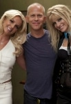 """GLEE: Britney Spears (L), Co-Creator/Executive Producer Ryan Murphy (C) and Heather Morris (R) on the set of GLEE for the """"Britney Britney"""" episode of GLEE airing Tuesday, Sept. 28 (8:00-9:00 PM ET/PT) on FOX. ©2010 Fox Broadcasting Co. Cr: Adam Rose/FOX"""