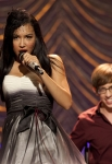 """GLEE: New Directions perform at Sectionals in the """"Special Education"""" episode of GLEE airing Tuesday Nov. 30 (8:00-9:00 PM ET/PT) on FOX. Pictured L-R: Naya Rivera and Kevin McHale. ©2010 Fox Broadcasting Co. CR: Justin Lubin/FOX"""
