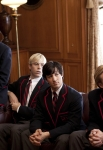 """GLEE: Blaine (guest star Darren Criss, L) and the Warblers recruit Kurt in the """"Special Education"""" episode of GLEE airing Tuesday Nov. 30 (8:00-9:00 PM ET/PT) on FOX. ©2010 Fox Broadcasting Co. CR: Justin Lubin/FOX"""