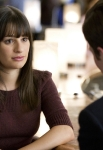 """GLEE: Rachel (Lea Michele, L) tries to recruit Kurt (Chris Colfer, R) back in the """"Special Education"""" episode of GLEE airing Tuesday Nov. 30 (8:00-9:00 PM ET/PT) on FOX. ©2010 Fox Broadcasting Co. CR: Justin Lubin/FOX"""