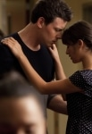"""GLEE: Finn (Cory Monteith, L) and Rachel (Lea Michele, R) share a moment in """"Audition,"""" the season premiere episode of GLEE airing Tuesday, Sept. 21 (8:00-9:00 PM ET/PT) on FOX. ©2010 Fox Broadcasting Co. Cr: Adam Rose/FOX"""