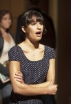 """GLEE: Rachel (Lea Michele) sings a song in """"Audition,"""" the premiere episode of GLEE airing Tuesday, Sept. 21 (8:00-9:00 PM ET/PT) on FOX. ©2010 Fox Broadcasting Co. Cr: Adam Rose/FOX"""
