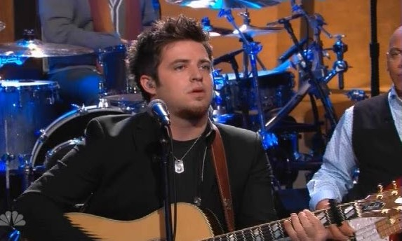 """Lee DeWyze sings """"Rocket Man"""" on the Tonight Show With Jay Leno"""