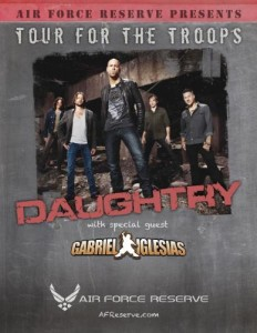 Daughtry Heads Overseas for a Military Tour